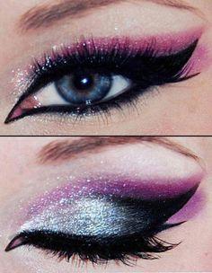 genial idea de makeup para nochevieja