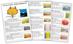 Ateliers graphiques PS - Consignes à coller - Journal de bord d'une instit' débutante