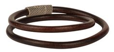 Rugged Tobacco Euro Leather Bracelet. Make something special for the man in your life with Antelope Beads!