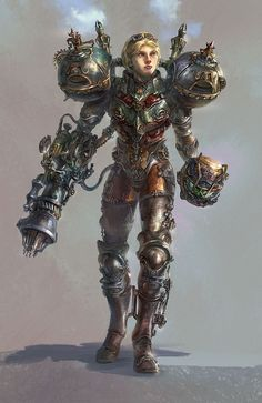"""steam-fantasy: """"This is a fantastic steampunk rendition of Samus from Metroid… Steampunk Armor, Arte Steampunk, Style Steampunk, Steampunk Cosplay, Steampunk Fashion, Victorian Steampunk, Steampunk Necklace, Victorian Gothic, Victorian Fashion"""