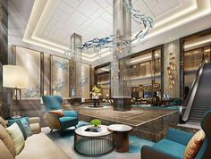 Modern and colourful hotel i hotel interiors inspirations