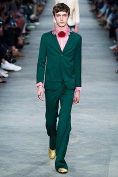 Gucci Primavera 2016 – Mr. & Mrs. Gucci Men Green Suit