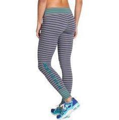 love the stripes! Under Armour Women's Ultimate Graphic Leggings | http://www.FitnessGirlApparel.com