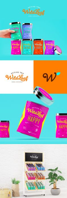 Wild Leaf offers rejuvenating teas for those with an active lifestyle.  Sweety & Co. developed the branding and packaging for the herbal supplement  that's good for both the body and the mind.