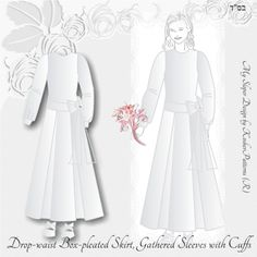 Tznius Wedding Gown Box Pleated
