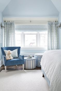 Sarah Richarson Design Designed By Natalie Hodgins Shannon Morrison Chambre Grenier Bleue