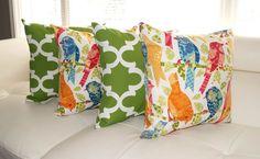 Richloom Ash Hill Garden and Fynn Bay Green Outdoor Throw Pillow - Set of 4 #richloom