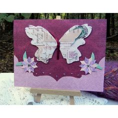 Butterfly Card Handmade Greeting Card Any Occasion Floral Design Card... ($3.50) ❤ liked on Polyvore featuring home, home decor, stationery and butterflies