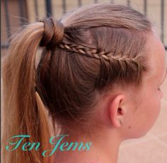 Side Braid Into Wrapped Ponytail