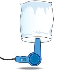 AIR TEMPERATURE Students will be blown away by this simple demonstration! Begin by explaining that a hot-air balloon rises because the air inside the balloon is heated. Then have one child hold a small trash bag upside down while you blow warm air into the bag with a hair dryer for ten seconds. Turn the dryer off and instruct the student to let go of the bag. (It should rise.) To add a twist, repeat the activity using the cool setting on the dryer and have students compare the results.