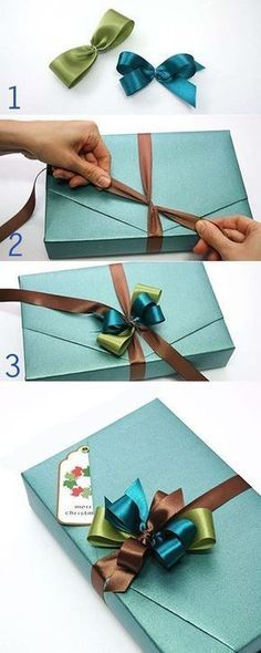 51 ideas diy christmas bows for gifts wrapping ideas Gift Wrapping Tutorial, Gift Wrapping Bows, Gift Wraping, Creative Gift Wrapping, Present Wrapping, Gift Bows, Christmas Gift Wrapping, Wrapping Ideas, Creative Gifts
