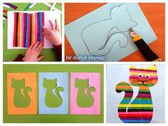 #preschool #okulöncesi #kindergarten #kedi #sanatetkinliği #kidscraft #kolaj