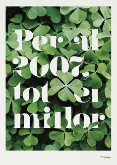 poster for barcelona parks department by klas ernflo