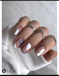Chic Nails, Swag Nails, Fun Nails, Manicure Nail Designs, Nail Art Designs, Nails Design, The Art Of Nails, Square Nail Designs, Blue Acrylic Nails