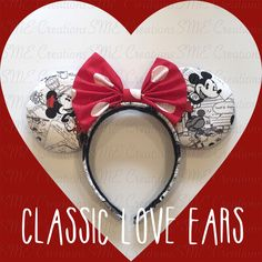 Classic Love Minnie Ears by yosabrinamarie on Etsy https://www.etsy.com/listing/235513995/classic-love-minnie-ears