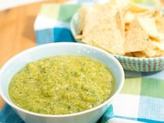 Roasted Tomatillo Salsa recipe from The Kitchen via Food Network