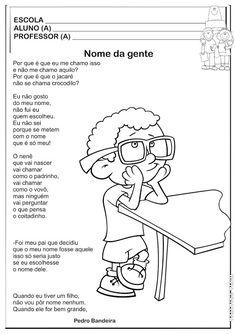 Projeto Identidade Sugestão de Aula   Ideia Criativa - Gi Barbosa Educação Infantil