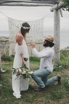 Dreamy couple Winona + Jason share their love story and beautiful Hornby Island wedding featuring the Grace Loves Lace Colette dress. Hipster Wedding, Boho Wedding, Summer Wedding, Dream Wedding, Wedding Bride, Hippie Chic Weddings, Hipster Bride, Forest Wedding, Woodland Wedding