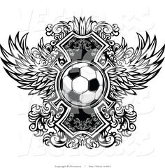 vector-of-a-soccer-ball-over-ornate-wings-icon-black-and-white-version-by-chromaco-943.jpg (1024×1044)