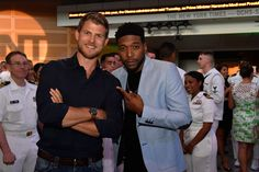 Travis Van Winkle (L) and Jocko Sims attend the TNT The Last Ship Season 3 Screening at the NEWSEUM on June 7, 2016 in Washington, DC. (Photo by Larry French/Getty Images for TNT) 26225_001