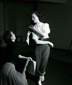 Julie rehearsing for cinderella