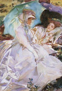 John Singer Sargent (American expatriate artist, 1856-1925) Reading, 1911