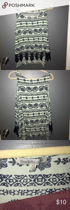 Charlotte Russe PLUS SIZE high low tank top brand new! never worn!! its a high low tank! Charlotte Russe Tops Tank Tops