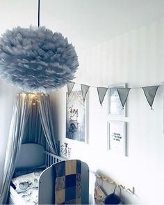 Create a playful children's room with fun shapes and textures, like here with the Eos lampshade. Photo credit: @annamarialinderoth. Eos, VITA copenhagen, lampshade, lamp, lighting, hygge, cosy, light, design, nordic home, nordic design, danish design, scandinavian design, Denmark, Scandinavia, Scandinavian Home, Urban Living, Nordic Living, minimalism, Nordic inspiration, Nordic minimalism, home decor, interior, Soren Ravn Christensen
