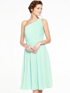 V by Very Bridesmaids One Shoulder Prom Dress