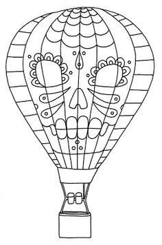 Yucca Flats, N.M.: Wenchkin's Coloring Pages - Dia de los Hot Air Bal...