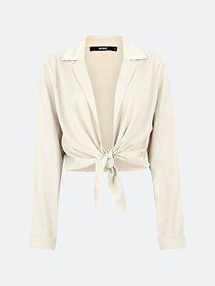 Cappuccino Sanna bluse i sateng | Dame | Overdeler - Bluser på BikBok.com Fashion, Blouse, Moda, Fashion Styles, Fashion Illustrations