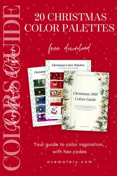 20 Christmas Color Palettes with Hex Codes + FREE Colors Guide – Ave Mateiu