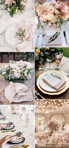 elegant pink wedding table setting ideas