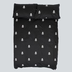 Drop Dead and chill? Dark Night Bedding Set (Double) NOMAD
