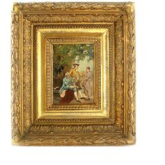 Antique Oil Painting, Original Gilt Frame, 1800s ($850) ❤ liked on Polyvore featuring home, home decor, wall art, antique oil painting, antique wall art and antique home decor