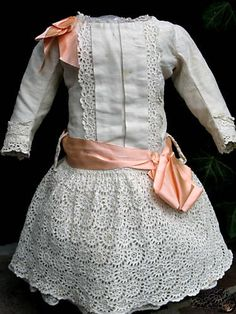 "I want to ""make"" a dress like this for one of my antique naked dolls. I have piles of old crinolines and satins."