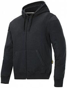 56ff81e3 Lækker hættetrøje til en god pris: Snickers hættetrøje med lynlås, sort  (2801-