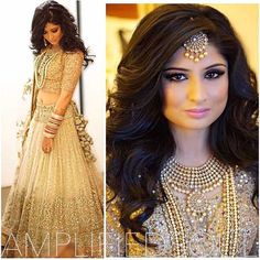 5 Simple but Truly Stunning Hairstyle for Indian Wedding- As one of the happiest moments in one's life, wedding always becomes a special moment where everyone wants to get a perfect look without a mistake. Bridal Outfits, Bridal Dresses, Indian Dresses, Indian Outfits, Moda Indiana, Indian Engagement, Indian Wedding Hairstyles, Engagement Hairstyles, Fancy Hairstyles