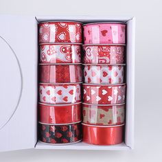 Surprising your Loved Ones with Colorful Valentine Ribbons   Price: $ 42.00  http://www.fuzzyfabric.com/specialty-ribbon/valentine-ribbon/js14901