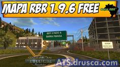 RBR Map v1.9.6 Add-On for 1.19 American Truck Simulator, Ads, Free