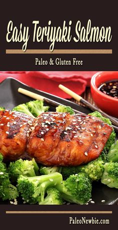Click To Discover The Proven #Paleo Guide, A Guide Make 821 People Total Lost 19,211 Pounds, Sweet and savory teriyaki flavored salmon –grilled or baked. Includes quick recipe for an easy and awesome soy-free paleo Teriyaki sauce. #paleodiets, #PaleoRecipes, #PaleoWeightLoss, #PaleoDinner