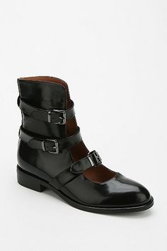 Jeffrey Campbell McGovern Buckled Ankle Boot
