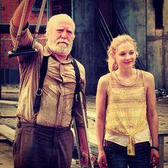 Scott Wilson (Hershel) and Emily Kinney (Beth)