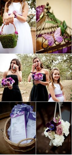Love these bridesmaid bouquets... and of course, the crying.