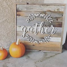 "I have a 20x20 ""Gather"" sign left. Any takers? #homedecor #rusticdecor #rustic…"
