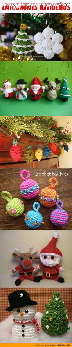 Adornos navideños amigurumis ~ Translate? Or at least some great DESIGN  IDEAS!