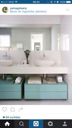 Banheiro clean com cor