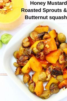 Honey Mustard Sprouts and Butternut Squash This honey mustard roasted butternut squash and brussels sprouts side dish is just perfect with a roast dinner. Why not make to go with your Christmas dinner or Thanksgiving meal? Dinner Side Dishes, Best Side Dishes, Dinner Sides, Side Dish Recipes, Dinner Recipes, Roasted Butternut, Butternut Squash, Vegetable Side Dishes, Vegetable Recipes