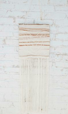 Handwoven Bohemian Tapestry  White Cotton by WeaveForMySupper, $110.00