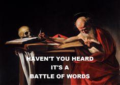 Us And Them - Pink Floyd / Saint Jerome Writing - Caravaggio